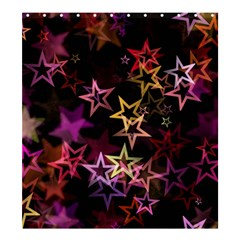 Stars Background Pattern Seamless Shower Curtain 66  X 72  (large)  by Sapixe