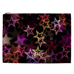 Stars Background Pattern Seamless Cosmetic Bag (xxl)
