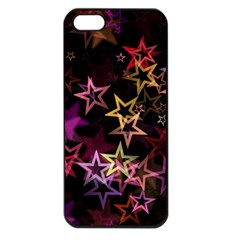 Stars Background Pattern Seamless Apple Iphone 5 Seamless Case (black)