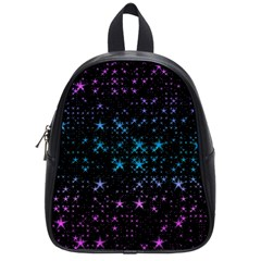 Stars Pattern Seamless Design School Bag (small) by Sapixe