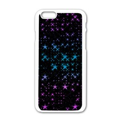 Stars Pattern Seamless Design Apple Iphone 6/6s White Enamel Case by Sapixe