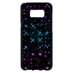 Stars Pattern Seamless Design Samsung Galaxy S8 Plus Black Seamless Case by Sapixe