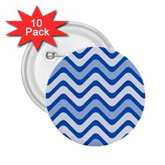 Waves Wavy Lines Pattern Design 2 25  Buttons (10 Pack)