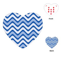 Waves Wavy Lines Pattern Design Playing Cards (heart) by Sapixe