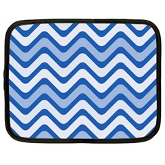 Waves Wavy Lines Pattern Design Netbook Case (xl) by Sapixe
