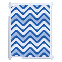 Waves Wavy Lines Pattern Design Apple Ipad 2 Case (white) by Sapixe
