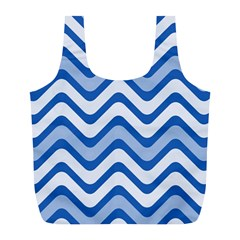 Waves Wavy Lines Pattern Design Full Print Recycle Bag (l)