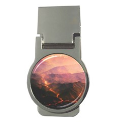 Volcanoes Magma Lava Mountains Money Clips (round)