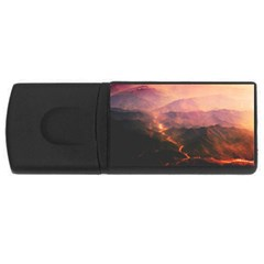 Volcanoes Magma Lava Mountains Rectangular Usb Flash Drive by Sapixe