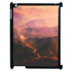 Volcanoes Magma Lava Mountains Apple Ipad 2 Case (black) by Sapixe