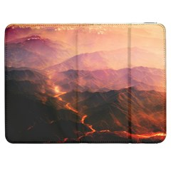 Volcanoes Magma Lava Mountains Samsung Galaxy Tab 7  P1000 Flip Case by Sapixe