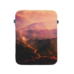 Volcanoes Magma Lava Mountains Apple Ipad 2/3/4 Protective Soft Cases by Sapixe