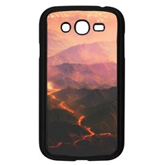 Volcanoes Magma Lava Mountains Samsung Galaxy Grand Duos I9082 Case (black)