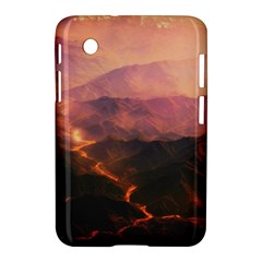Volcanoes Magma Lava Mountains Samsung Galaxy Tab 2 (7 ) P3100 Hardshell Case  by Sapixe
