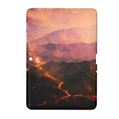 Volcanoes Magma Lava Mountains Samsung Galaxy Tab 2 (10 1 ) P5100 Hardshell Case  by Sapixe