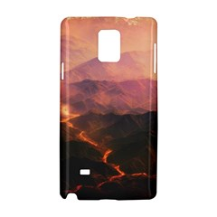 Volcanoes Magma Lava Mountains Samsung Galaxy Note 4 Hardshell Case by Sapixe