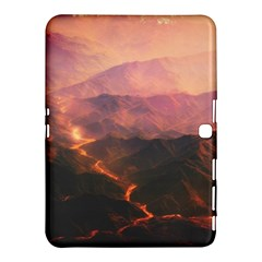 Volcanoes Magma Lava Mountains Samsung Galaxy Tab 4 (10 1 ) Hardshell Case  by Sapixe