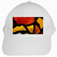Colorful Glass Mosaic Art And Abstract Wall Background White Cap