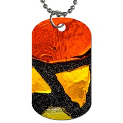 Colorful Glass Mosaic Art And Abstract Wall Background Dog Tag (one Side) by Jojostore