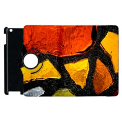 Colorful Glass Mosaic Art And Abstract Wall Background Apple Ipad 3/4 Flip 360 Case