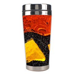 Colorful Glass Mosaic Art And Abstract Wall Background Stainless Steel Travel Tumblers