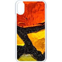 Colorful Glass Mosaic Art And Abstract Wall Background Apple Iphone X Seamless Case (white)