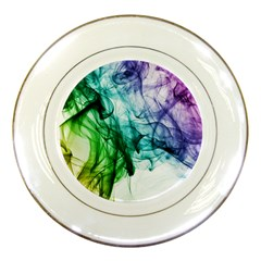 Colour Smoke Rainbow Color Design Porcelain Plates by Jojostore