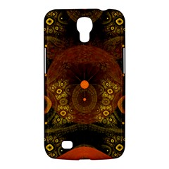 Fractal Yellow Design On Black Samsung Galaxy Mega 6 3  I9200 Hardshell Case