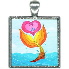 Mermaid At Heart Square Necklace