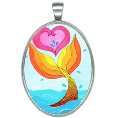 Mermaid At Heart Oval Necklace