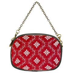 Chorley Weave Red Chain Purse (one Side)