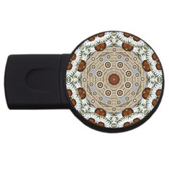 Flower Wreath In The Jungle Wood Forest Usb Flash Drive Round (2 Gb)