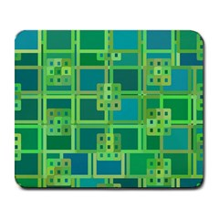 Green Abstract Geometric Large Mousepads