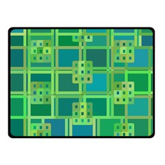 Green Abstract Geometric Fleece Blanket (small) by Sapixe