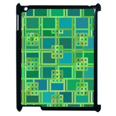 Green Abstract Geometric Apple Ipad 2 Case (black) by Sapixe