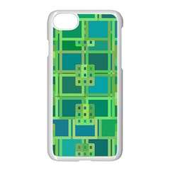Green Abstract Geometric Apple Iphone 7 Seamless Case (white)