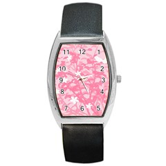 Plant Flowers Bird Spring Barrel Style Metal Watch