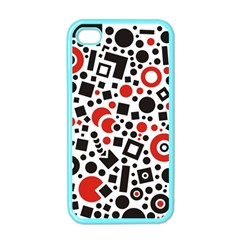 Square Objects Future Modern Apple Iphone 4 Case (color)