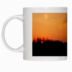 Sunset Nature White Mugs