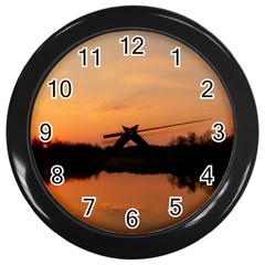 Sunset Nature Wall Clock (black) by Sapixe