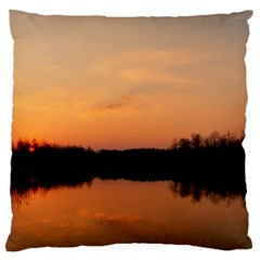 Sunset Nature Standard Flano Cushion Case (two Sides)