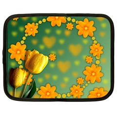 Background Design Texture Tulips Netbook Case (xxl)
