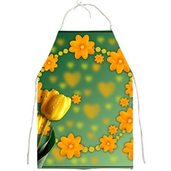 Background Design Texture Tulips Full Print Aprons