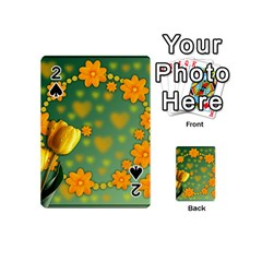 Background Design Texture Tulips Playing Cards 54 (mini)