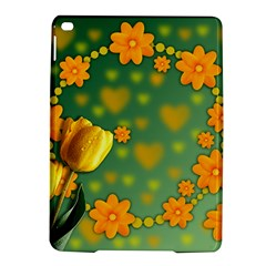Background Design Texture Tulips Ipad Air 2 Hardshell Cases
