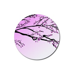 Essential Oils Flowers Nature Plant Rubber Round Coaster (4 Pack)