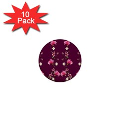 New Motif Design Textile New Design 1  Mini Buttons (10 Pack)