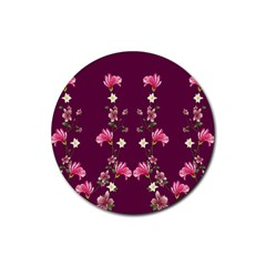 New Motif Design Textile New Design Rubber Round Coaster (4 Pack)