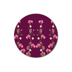New Motif Design Textile New Design Magnet 3  (round) by Sapixe