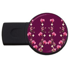 New Motif Design Textile New Design Usb Flash Drive Round (2 Gb)